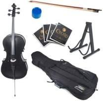 Cecilio 4/4 CCO-Black Student Cello Outfit in Metallic Black (Full Size)