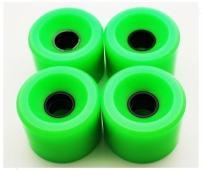 VJ Longboard Wheel/Skateboard Rubber Wheel/PU, 80A 60mm 65mm 70mm 76mm (Set of 4)