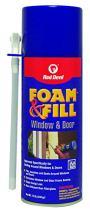 Red Devil 0914 Foam & Fill Window & Door Polyurethane Foam Sealant, 12 oz, Off White, Pack of 1