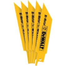 DEWALT DW4812 4-Inch 24 TPI Straight Back Bi-Metal Reciprocating Saw Blade (5-Pack)