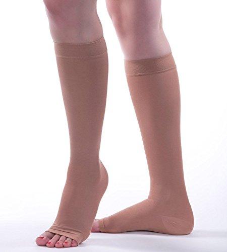 Allegro 20-30 mmHg Soft 253 Microfiber Knee High Compression Stockings
