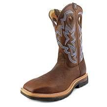 Twisted X Mens Lite Cowboy Distressed Saddle/Cherry Workboot (MLCW001)