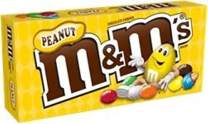 M&M's Peanut Chocolate Candy - Movie Theater Box 3.1 Ounce (Pack of 12)