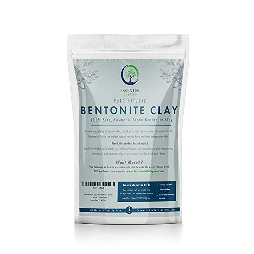 2lb - Essential Living Bentonite Clay Powder Great for Face Masks, DIY Projects, All Natural, Additive Free