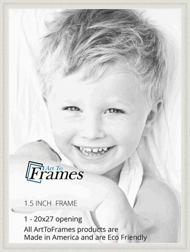 ArtToFrames 20x27 inch  Off White Stain on Solid Wood Wood Picture Frame, 2WOM0066-78238-YWHT-20x27