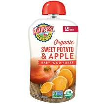 Earth's Best Organic Stage 2, Sweet Potato & Apple, 4 Ounce Pouch (Pack of 12)
