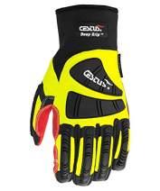 Cestus Pro Series Deep Grip Oil Resistant Impact Glove, Work, Cut Resistant, Large, Green (Pack of 1 Pair)