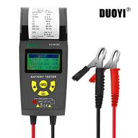 Automotive Battery Tester 12V/24V Car Battery System Tester Cranking and Charging Test System Analyzer Scan Tool with Printer for Heavy Duty Trucks, Cars, Motorcycles and More