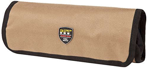 FASITE PTN058 Tool Pen Roll Pouch Rolling Bag PTN058, Dark Yellow