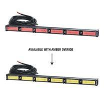 Abrams Focus 600 Series Dual Color (Red - Amber Override) 144W - 48 LED EMS EMT Fire Truck Vehicle Traffic Advisor Strobe Warning Directional Light Bar