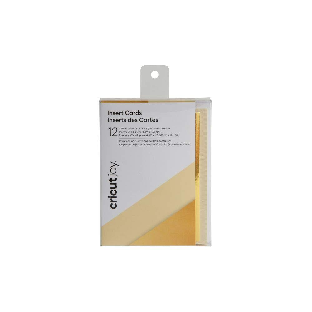 Cricut Joy Insert Cards - DIY greeting card for Baby Shower, Birthday, and Wedding  - Metallic Cream/Gold, 12ct