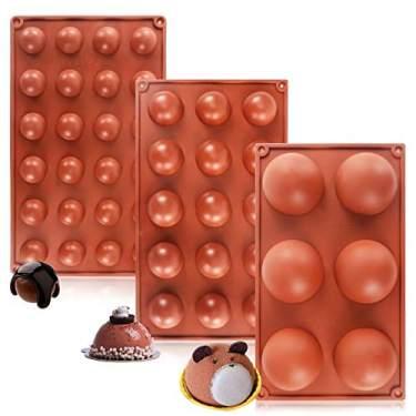 6 Holes Semi-Sphere Round Silicone Mold Hot Chocolate Bombs Cake Baking Kit US