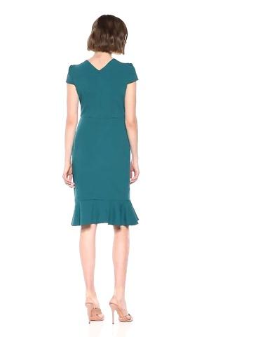 Betsey Johnson Women's Scuba Crepe Dress w/Flounce