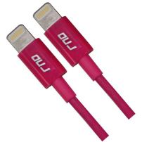 RND 2X Apple Certified Lightning to USB 1.5FT Cable for iPhone (Xs, XS Max, XR, X, 8, 8 Plus, 7, 7 Plus, 6, 6 Plus, 6S, 6S Plus) iPad (Pro, Air, Mini) and iPod (1.5 feet/.5 Meter/Pink) 2-Pack