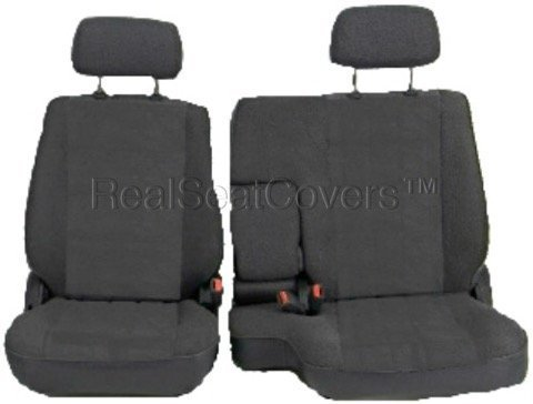 RealSeatCovers for Front 60/40 Split Bench A57 Triple Stitched Thick Custom Made Seat Cover for Toyota Pickup 1990-1995 Exact Fit (Charcoal Dark Gray)