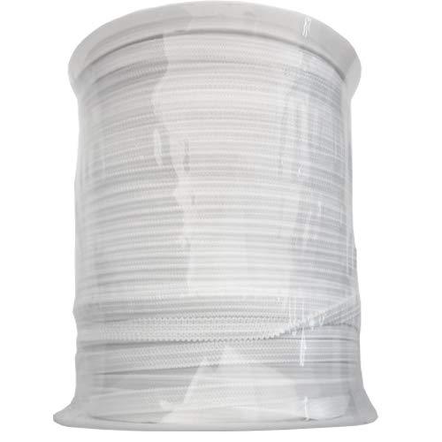 Elastic Band 1/8 inch 100Yards Elastic Strap Elastic Cord Elastic Strap Sewing DIY Crafts (1/8W x 100L, White)