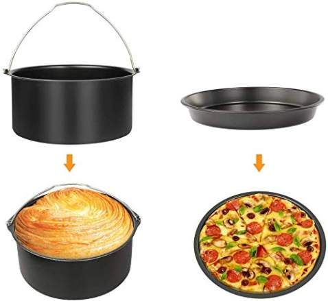 Simple Living Products Air Fryer Accessories (2 Piece Set) Air Fryer Oven, Air Fryer, Slow Cooker Accessory Set. Compatible with Philips, Dash, GoWise, Cosori & Ninja Air Fryers.