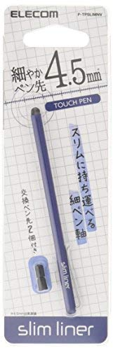 ELECOM-Japan Brand-Touch Pen Stylus Super High Sensitive Type Slim Model for iPhone iPad Android Navy P-TPSLIMNV