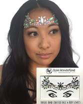 Rave Wonderland Festival Face Jewels Rhinestone Adhesive Multi-Color