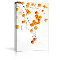 """wall26 Canvas Wall Art - Tangerine Fruits on The Tree Branch - Watercolor Painting Style Art Reproduction - Modern Home Decoration - 24""""x36"""""""