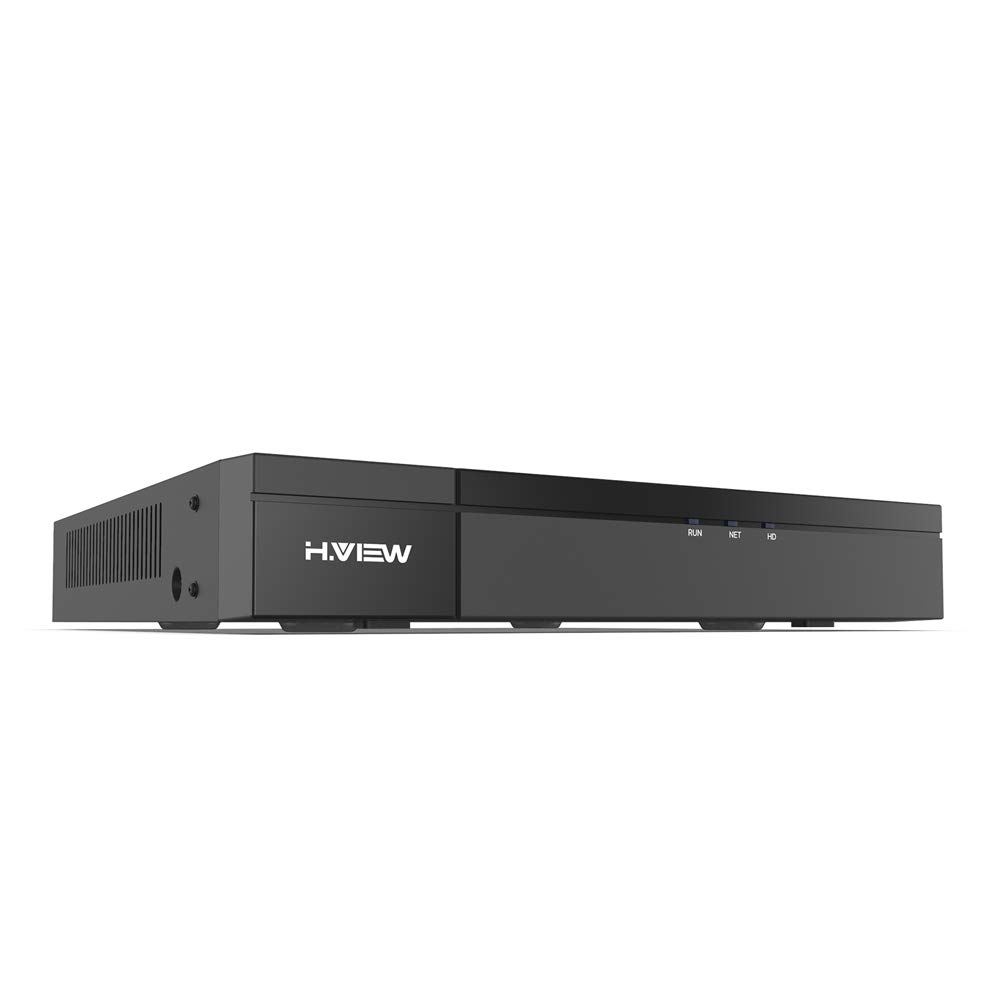 H.VIEW 8 Channels 4K PoE NVR (8MP/6MP/5MP/4MP/3MP/1080P) PoE Network Video Recorder, Support up to 8x8MP/4K IP Cameras, Max up to 1x 10TB Hard Drives(Not Included)