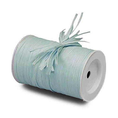 "Pastel Blue Matte Raffia Ribbon, 1/4"" X 100 Yards by Paper Mart"