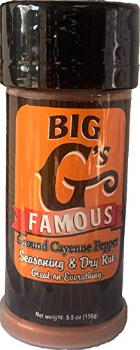 Ground Cayenne Pepper Seasoning and Dry Rub, Highest Quality Cayenne Pepper, Great on Everything! Grilling, Smoking, Roasting, Cooking, or Baking! 5.5 Oz By: Big G's Food Service