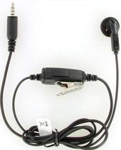 Kenwood KHS-33 Clip Microphone with Earphone (Single Pin) for PTK-23K ProTalk Lite