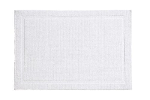 Grund Certified 100% Organic Cotton Bath Mat, Charleston Series, 21-Inch by 34-Inch, White