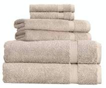 SALBAKOS Cambridge Ultra Luxury Hotel Collection & Spa Bath Towels Turkish Cotton Bath Towels Made in Turkey 700gsm Eco-Friendly Bulk Save (6 Piece Set, Taupe)