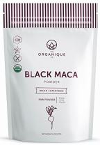The Organique Co. Black Maca Root Powder - 8 Ounce - Certified Organic, Raw, Non-GMO Supplement - Energy, Stamina, and Memory - Sustainably Sourced from Peru