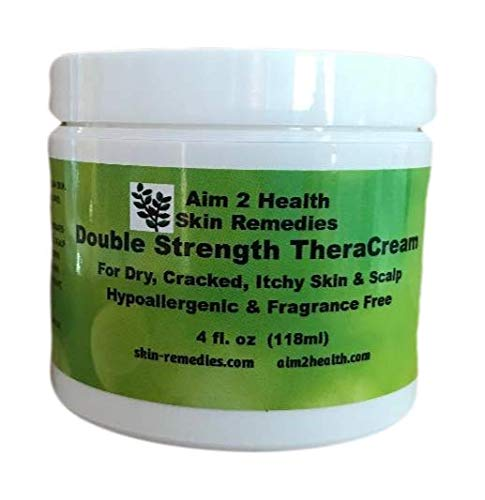 Double Strength TheraCream With 20% Urea 4 oz Natural Soothing Relief For Dry Cracked Flaky Skin As Well As Eczema, Psoriasis, Dermatitis & Rashes