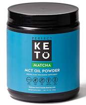 Perfect Keto MCT Oil C8 Powder, Coconut Medium Chain Triglycerides for Pure Clean Energy, Ketogenic Non Dairy Coffee Creamer, Bulk Supplement, Helps Boost Ketones, Matcha