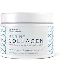 Nordic Naturals Marine Collagen Powder - Supports Healthy Skin and Helps Stimulate Collagen-Producing Cells Throughout the Body, 4,200 mg Collagen Peptides Per Serving*, Strawberry, 150g (30 servings)