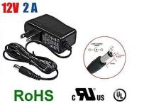 iMBAPrice CCTV Power Adapter - DC 12V 2A, 5.5mm - 2.1mm (UL Approved) Surveillance Security Cameras Power Supply