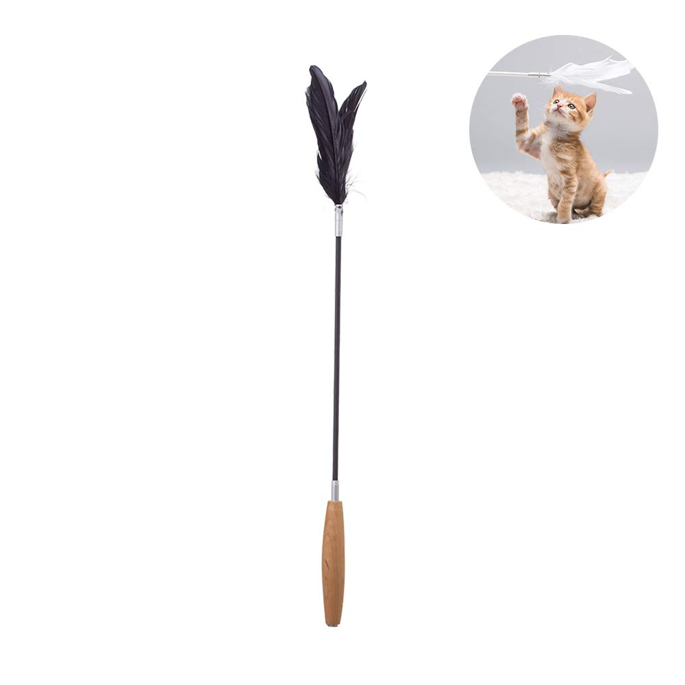pidan Cat Wand Toy Feather Cat Toys Wand with Feather Cat Feather Teaser Carbon Fiber Stick Goose Feather for More Fun Toy for Kitten