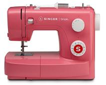SINGER   3223R Sewing Machine with 97 Stitch Applications, Red, 4-Step Buttonhole, & Free Arm - Perfect for Beginners - Sewing Made Easy
