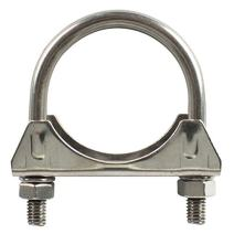 Stainless Steel Saddle U-Bolt Muffler/Exhaust Clamp, 2.50 Inch