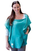 Poncho Baby Nursing Cover, Oval Emerald
