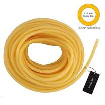 "AIRSOFTPEAK 3/33FT Natural Latex Rubber Tubing Speargun Band Slingshot Catapult Surgical Tube Rubber Hose 0.2"" OD 0.12"" ID, 0.24'' OD 0.12"" ID, 0.24"" OD 0.16"" ID"