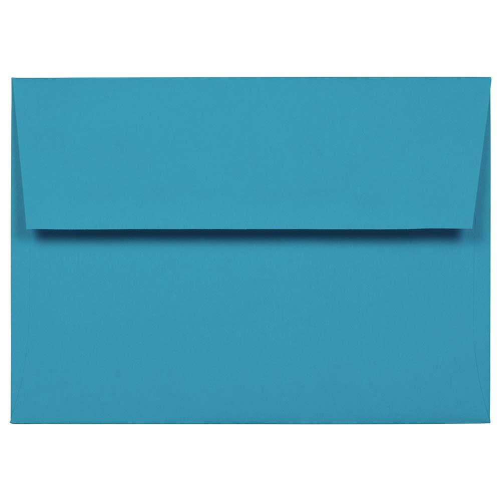 JAM PAPER A7 Colored Invitation Envelopes - 5 1/4 x 7 1/4 - Blue Recycled - Bulk 1000/Carton