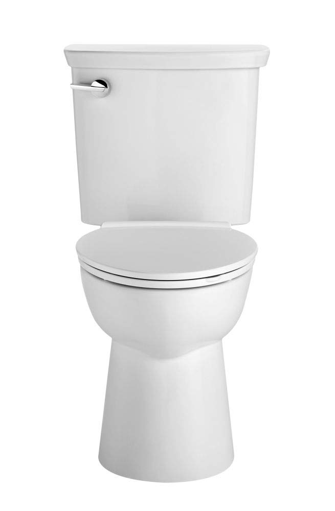 American Standard 238AA114.020 Vormax Ultra High Efficiency Right Height Elongated Toilet with Left Hand Trip Lever, White