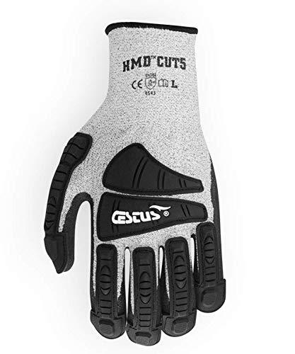 Cestus HMD CUT5-3008 XL Cut Resistant Glove, X-Large/11, Gray, Pair