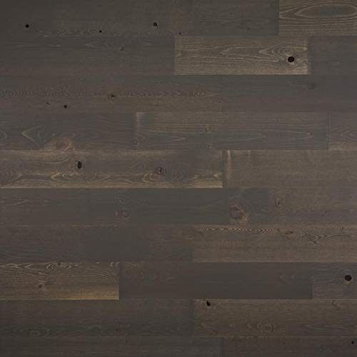 """Timberchic River Reclaimed Wooden Wall Planks - Simple Peel and Stick Application. (5"""" Wide - 20 Sq. Ft, Breakwater)"""