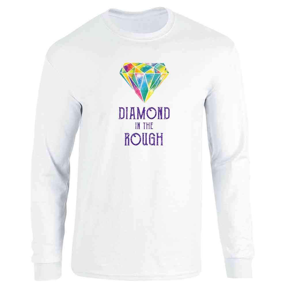 Diamond in The Rough Cute Art Funny Colorful Watercolor Full Long Sleeve Tee T-Shirt