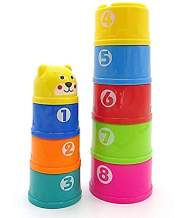 Dazzling Toys Stacking Cups Toddler Alphabets Numbers Building Joy Cups Stacking Colorful Cups