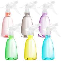 Youngever 6 Pack Empty Plastic Spray Bottles, Spray Bottles for Hair and Cleaning Solutions in 6 Colors (8 Ounce)