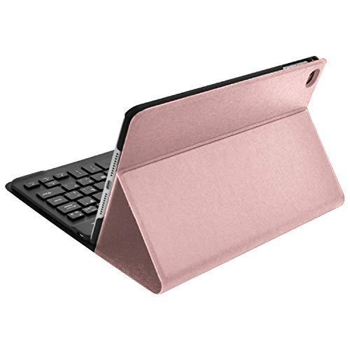 Digital Basics Apple iPad 10.5 Compatible Bluetooth Keyboard Portfolio Case, Rose Gold
