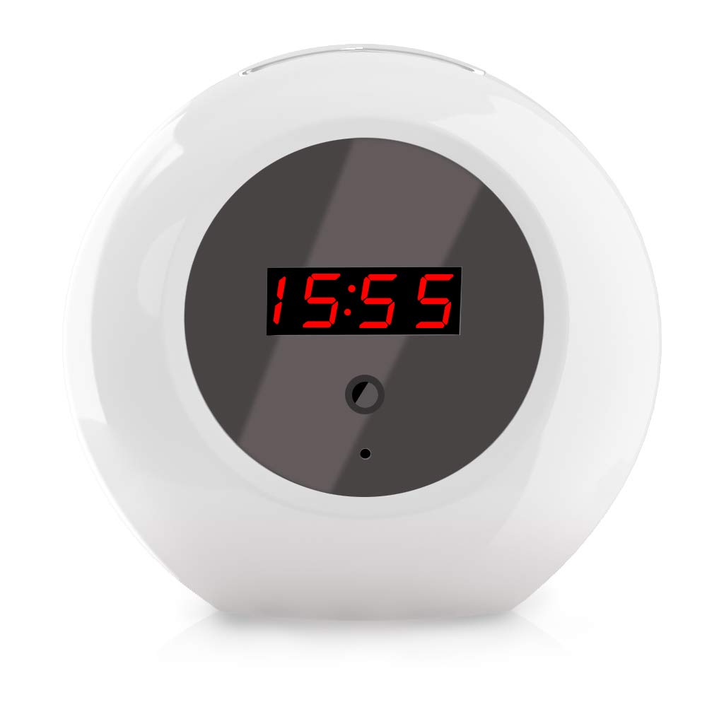 Beenwoon Hidden Camera Clock– Fashion 1080P HD Home Security Camera Clock Loop Video Recorder Remote Controller Operation