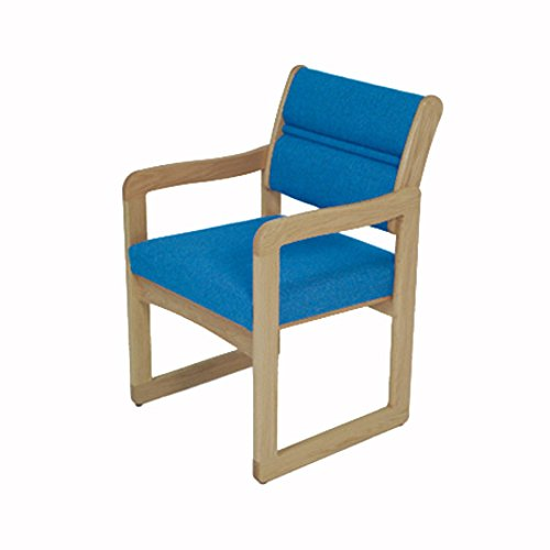 Wooden Mallet DW1-1 Valley Guest Chair, Medium Oak/Leaf Taupe